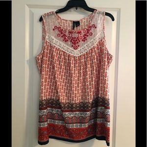 Blouse By New Directions, Print, 2X
